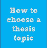 A thesis resource guide